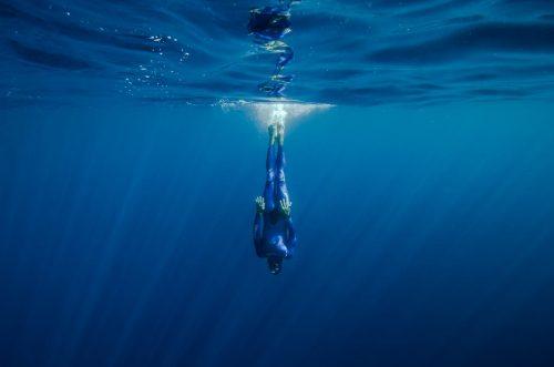 Guillaume Néry, en apnée, à Nice, Villefranche sur Mer, dépassement de soi, apnée