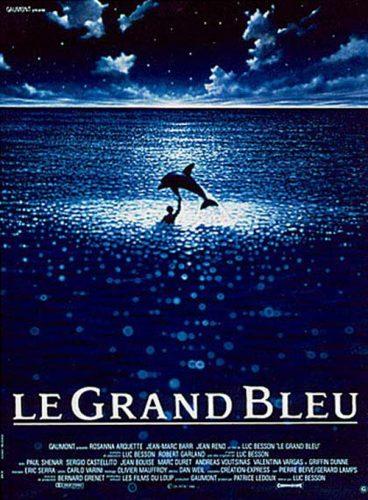 Affiche du film Le Grand Bleu de Luc Besson, apnée