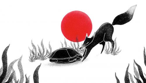 histoire du bouddhisme et de la pleine conscience, le renard et la tortue