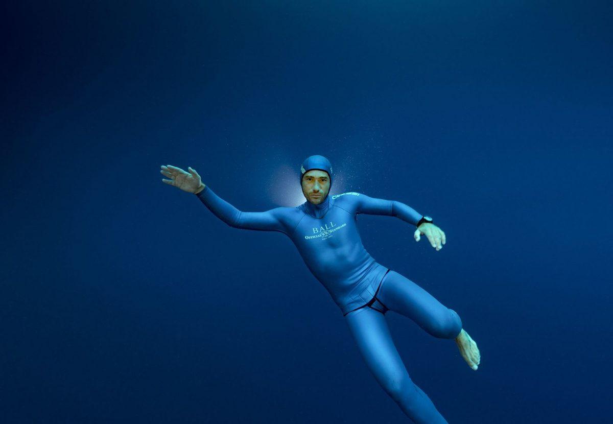 Guillaume Néry, apnée poids constant, immersion libre, retour aux sources