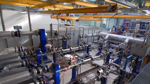 un réseau hydraulique, photo de principe