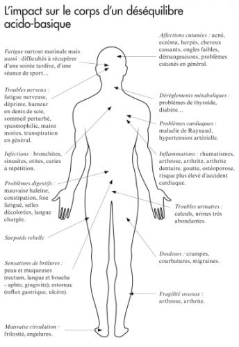 Impact du déséquilibre acido basique de l'organisme sur la santé en générale