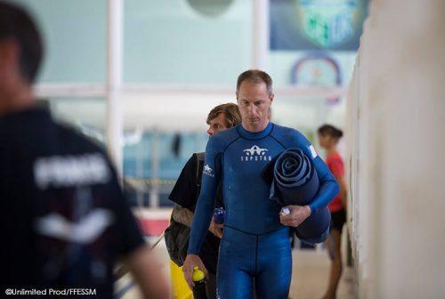 Olivier Élu, champion du monde 2016 d'apnée en DNF : Dynamic No Fin