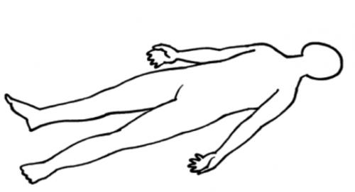 position de relaxation idéale pour l'échauffement à l'apnée statique
