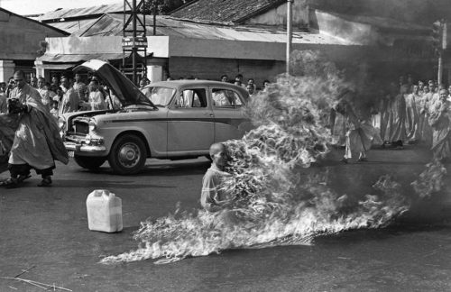 Thich Quang Duc burning man